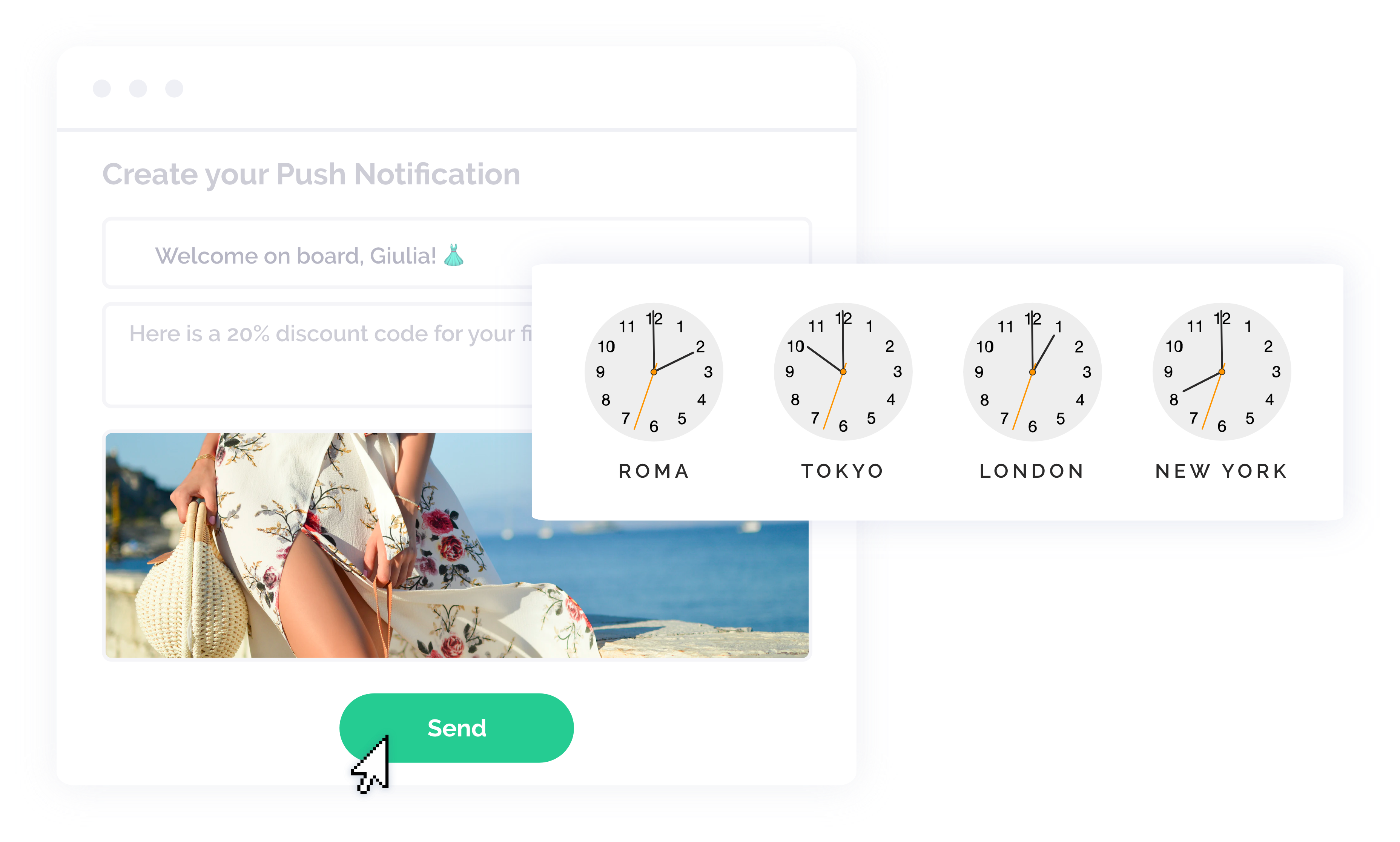 Scheduling push notifications